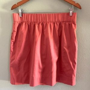 J. Crew rose pink elastic band skirt with pockets